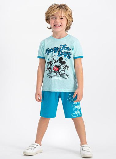 Mickey Mouse Pijama Takım Yeşil